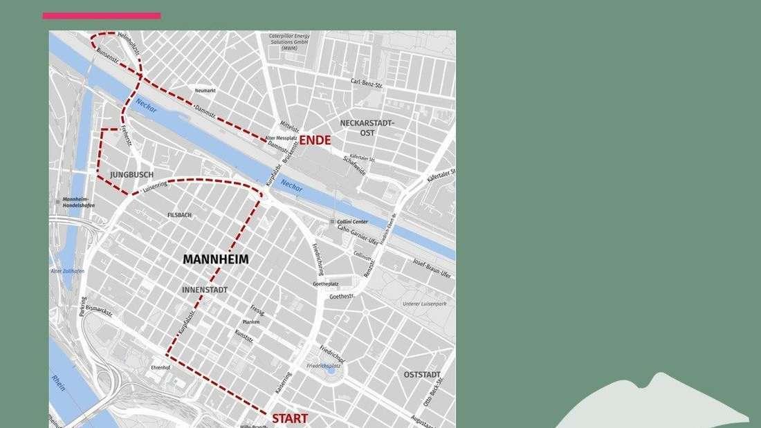 Die Route für den Demonstrationszug der Kulturdemo