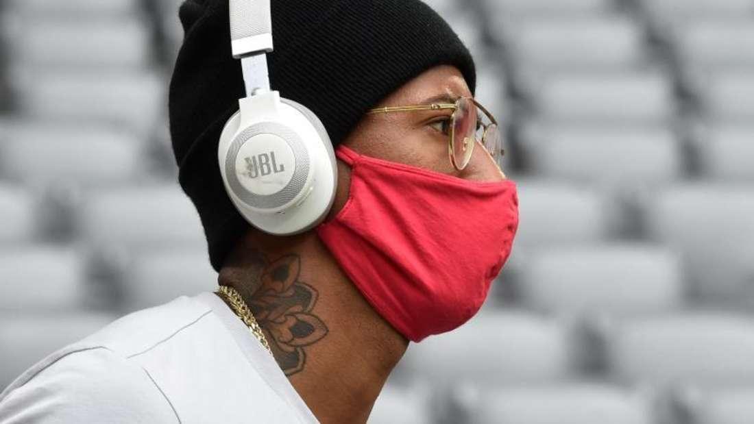 Nachdenklich: Jerome Boateng vom FC Bayern. Foto: Christof Stache/AFP/Pool/dpa