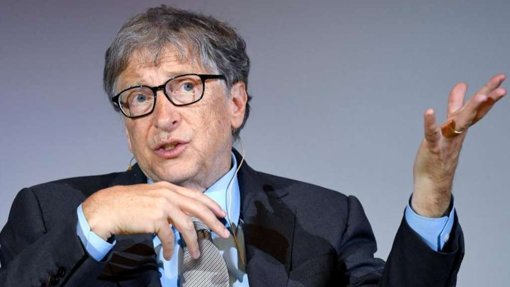 "Bill Gates, Microsoft-Gründer, bei der Diskussion ""Innovationspotenzial in Afrika"". Foto: Britta Pedersen"
