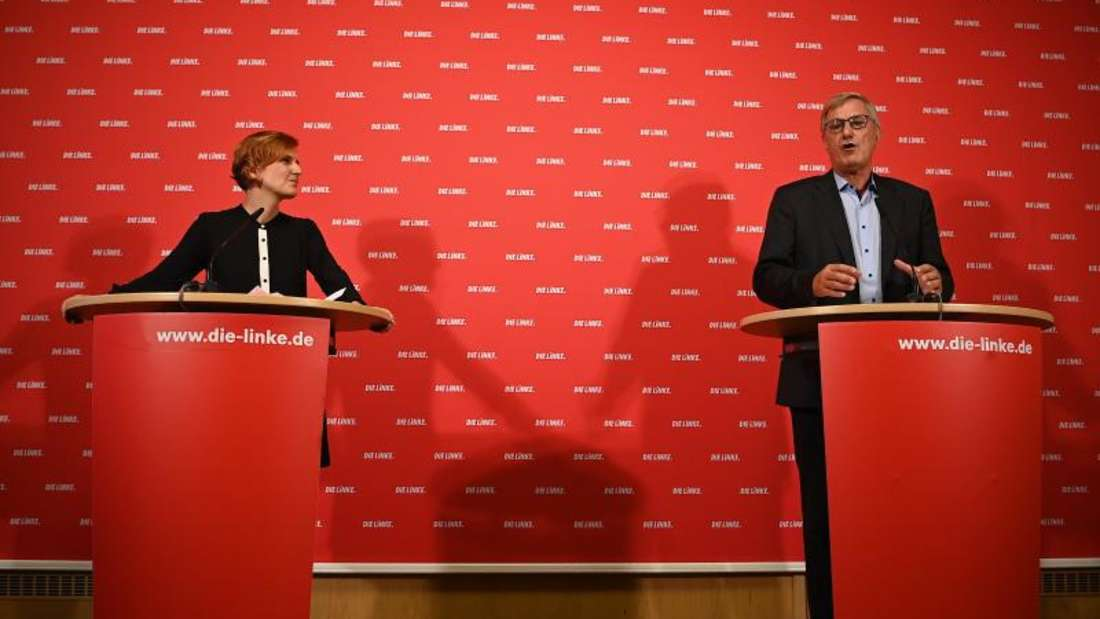 Werden nicht erneut für den Parteivorsitz der Linken kandidieren: Katja Kipping und Bernd Riexinger. Foto: Britta Pedersen/dpa-Zentralbild/dpa