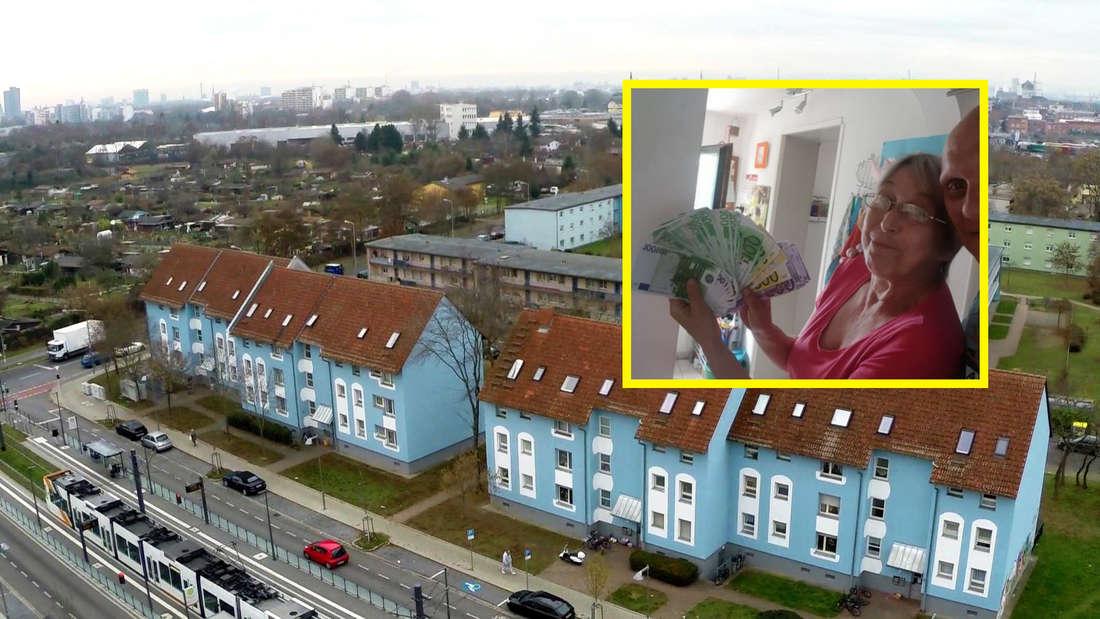 Mannheim: Geldsegen bei Dagmar aus den Benz Baracken? Facebook-Post sorgt für Furore (Fotomontage).