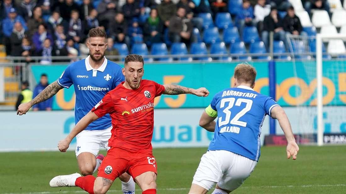 Der SV Sandhausen empfängt am Samstag den SV Darmstadt 98.