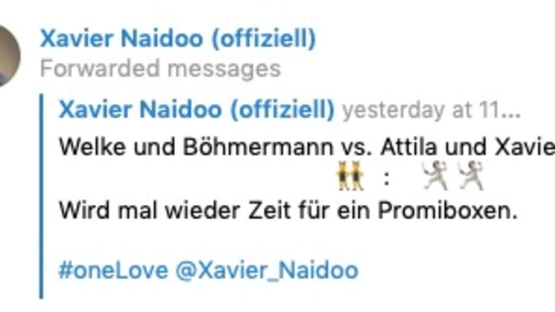 Xavier Naidoo fordert Oliver Welke und Jan Böhmermann heraus. (Screenshot)