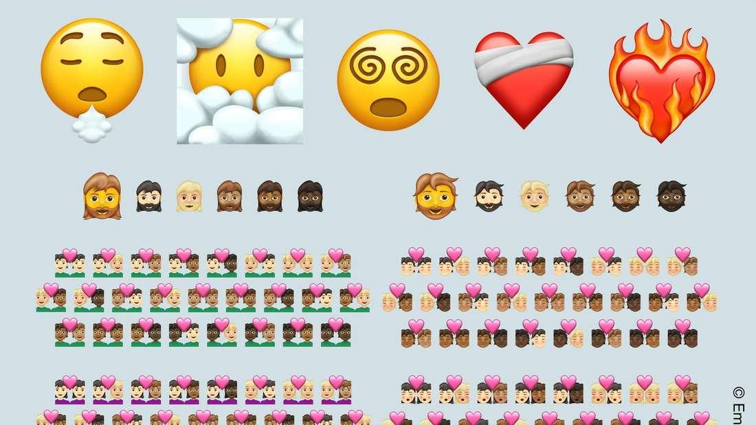 Die Emoji-Generation 13.1., die ab 2021 verfügbar sein soll.