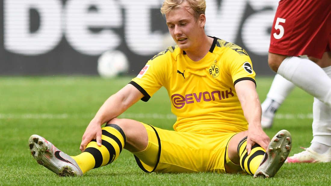 Julian Brandt am Boden: Beim BVB hat der Nationalspieler nach über einen Jahr seinen Platz im Team noch nicht gefunden.