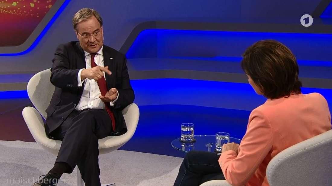Armin Laschet zu Gast bei Sandra Maischberger im Ersten.