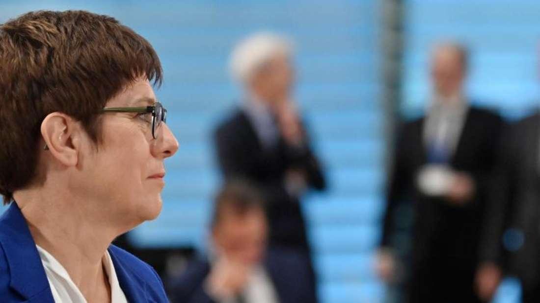 Wird ihren Posten als CDU-Chefin abgeben:Annegret Kramp-Karrenbauer. Foto: John Macdougall/AFP POOL/dpa