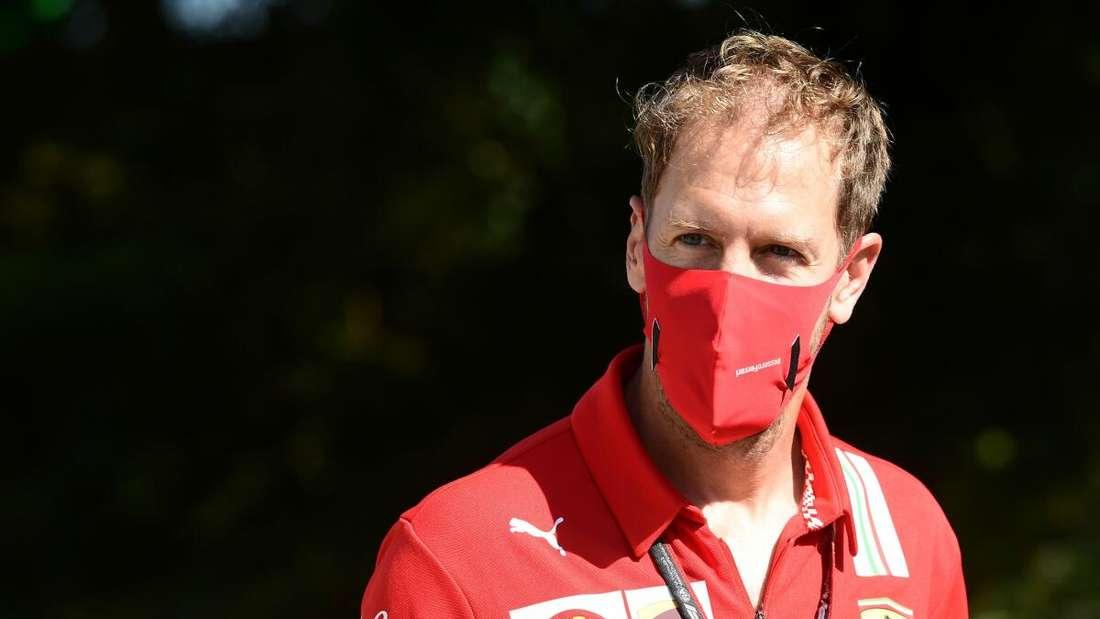 Sebastian Vettel schied in Monza früh aus.