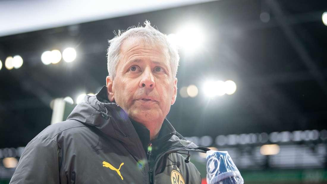 Lucien Favre vom BVB gibt ein Interview
