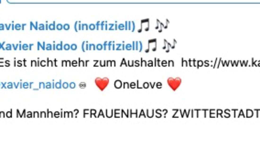 Xavier Naidoo ärgert sich über einen Vorschlag aus Karlsruhe. (Screenshot)
