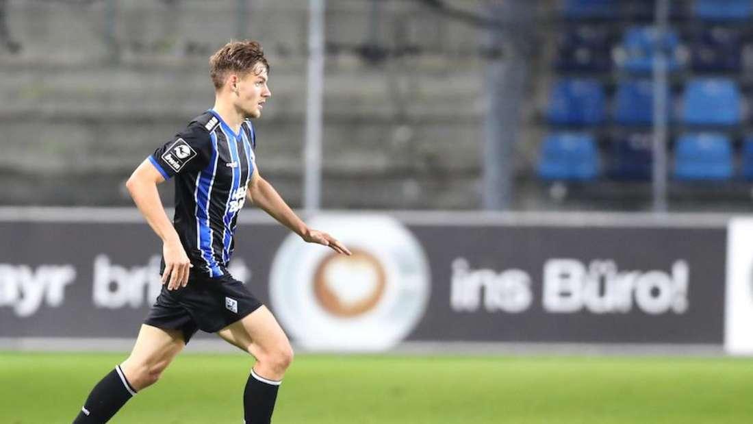 Max Christiansen trifft mit dem SV Waldhof auf den 1. FC Magdeburg.