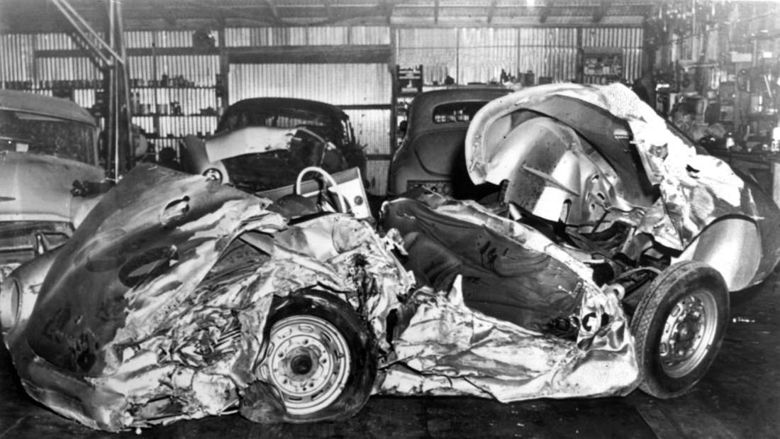 James Dean starb in diesem Porsche-Wrack.