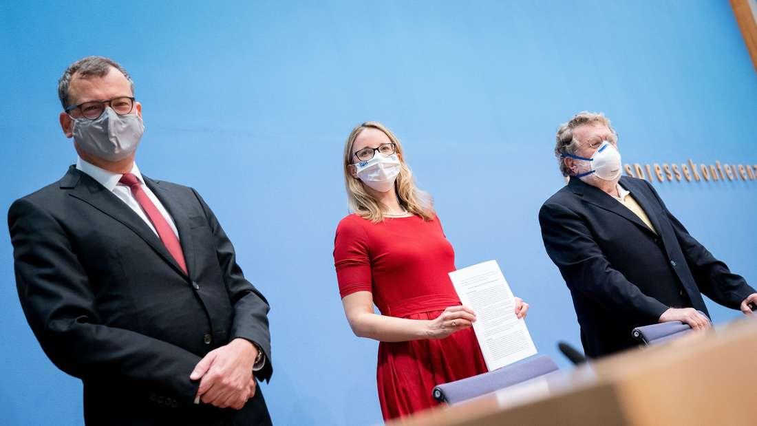 Gerald Haug, Alena Buyx und Thomas Mertens