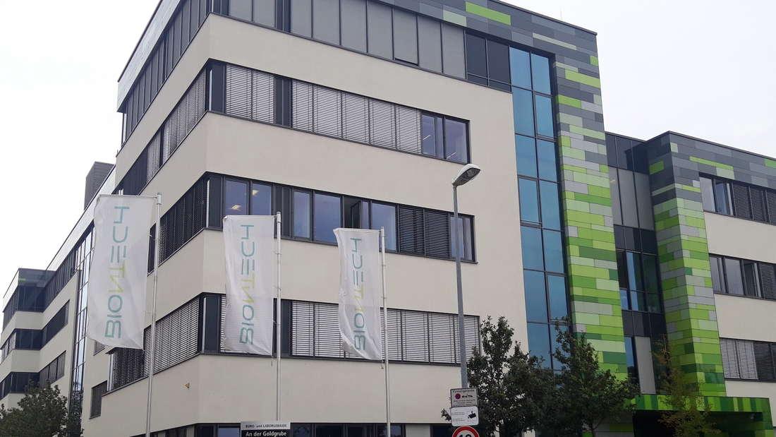 Das Gebäude der Firma BioNTech