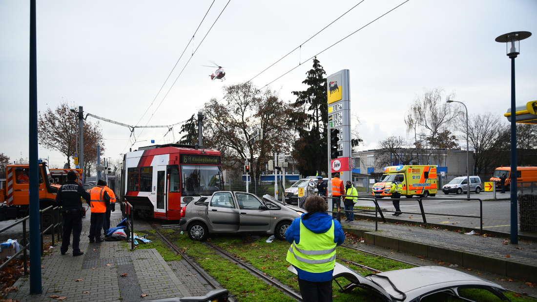 Die Unfallstelle in Mannheim am Montagmorgen