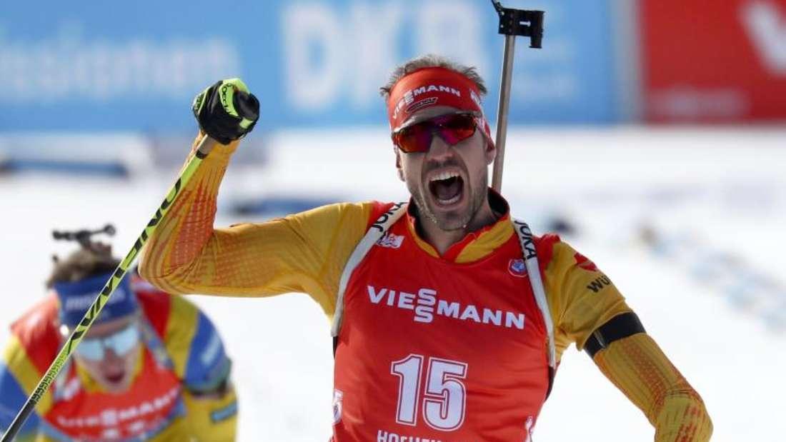 Biathlon: Arnd Peiffer siegte beim Massenstart in Hochfilzen