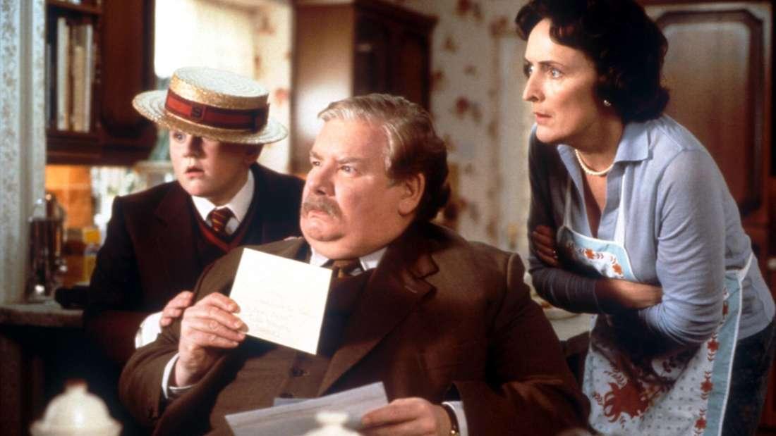 Cousin Dudley, Onkel Vernon und Tante Petunia Dursley in Harry Potter und der Stein der Weisen