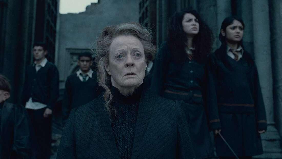 Maggie Smith als Minerva McGonagall im letzten Teil der Harry Potter Reihe.