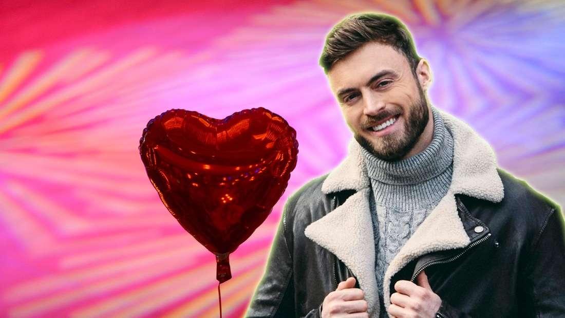 Bachelor Niko Griesert vor einem Herz-Luftballon (nordbuzz.de-Montage).