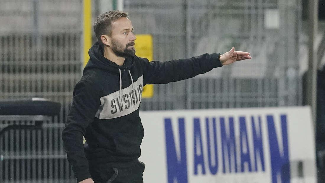Sandhausens Trainer Michael Schiele muss wohl seine Abwehr umstellen.