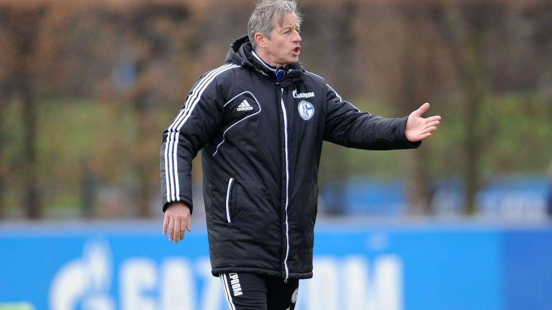 Jens Keller, Trainer des FC Schalke 04, in der Saison 2013/2014.