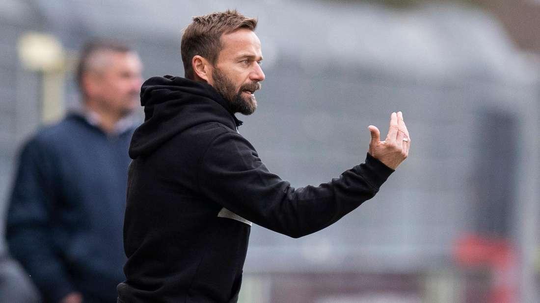 Sandhausen-Trainer Michael Schiele ist vor dem Darmstadt-Spiel zuversichtlich.