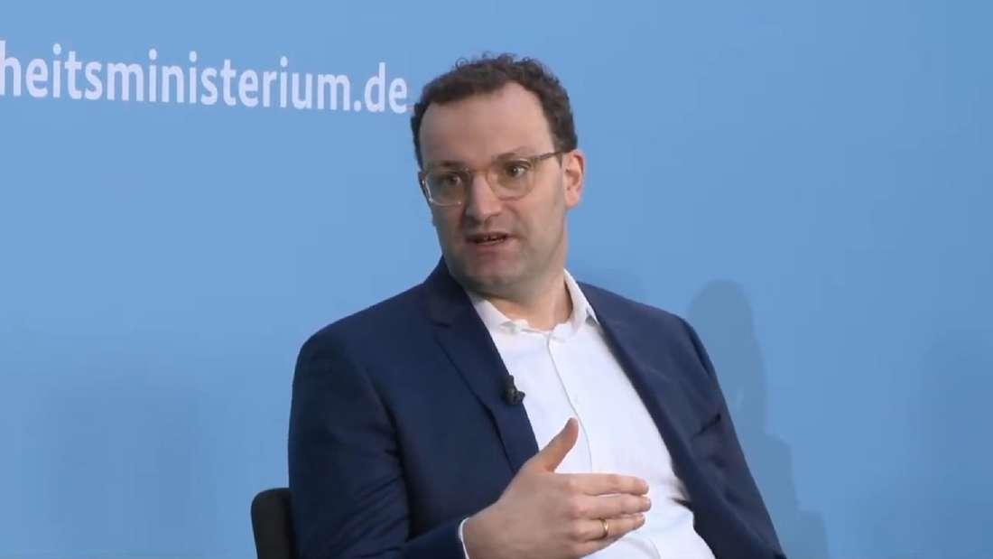 """Jens Spahn bei der Veranstaltung """"Zusammen gegen Corona live""""."""