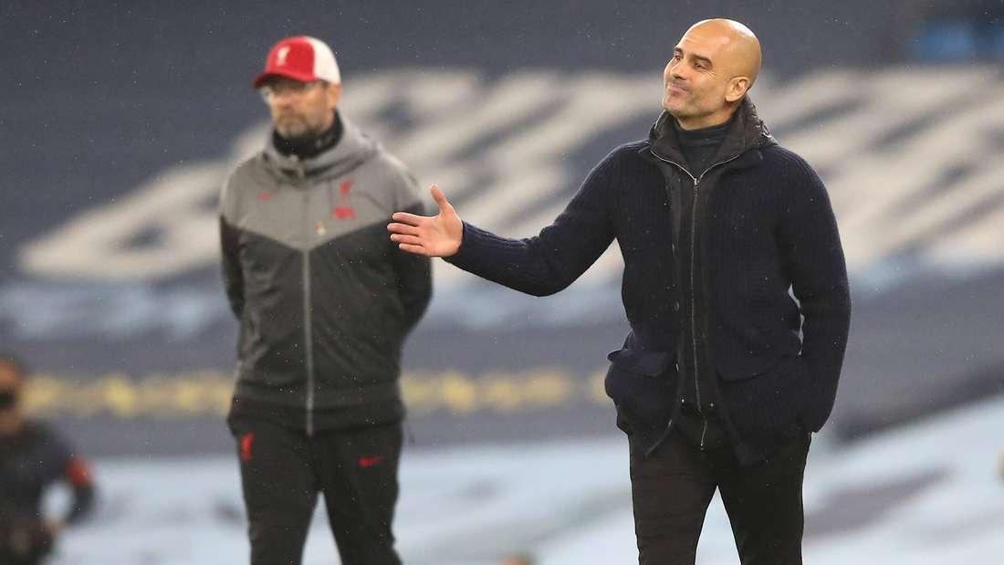 Vor dem Spitzenspiel der Premier League fliegen Giftpfeile zwischen Jürgen Klopp und Pep Guardiola
