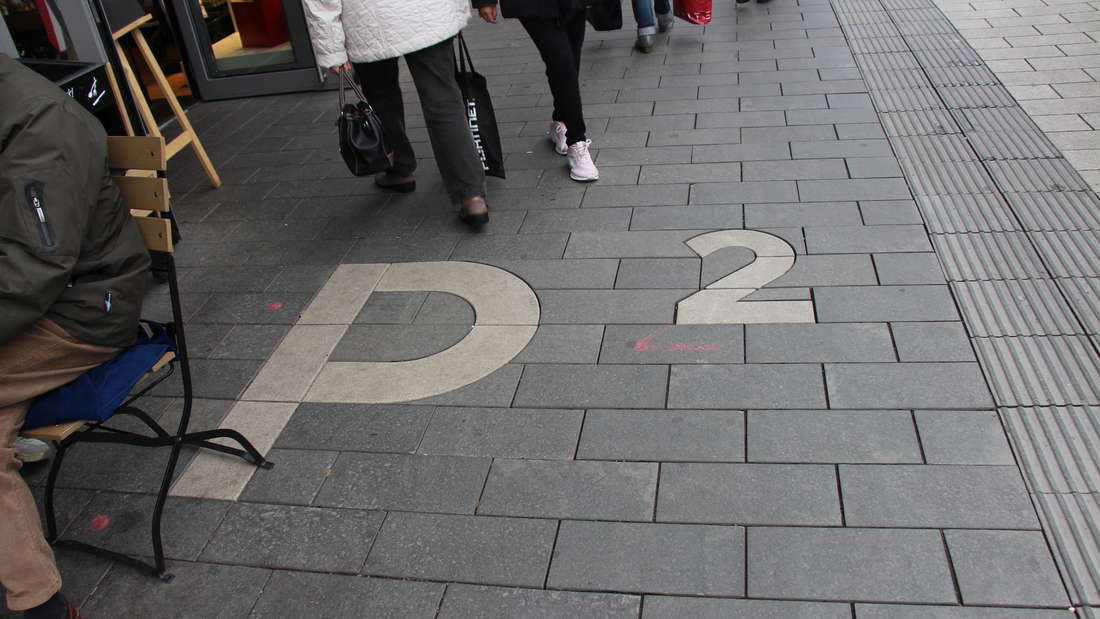 Der Boden auf den Mannheimer Planken im Quadrat P2.
