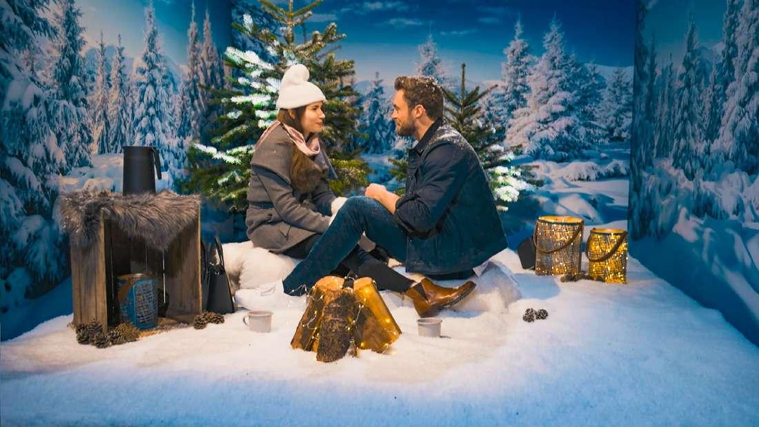 Esther mit Bachelor Niko Griesert im romantischen Schnee-Paradies