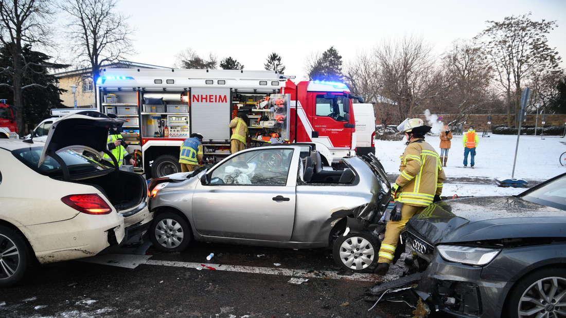 Verkehrsunfall auf der Feudenheimer Straße