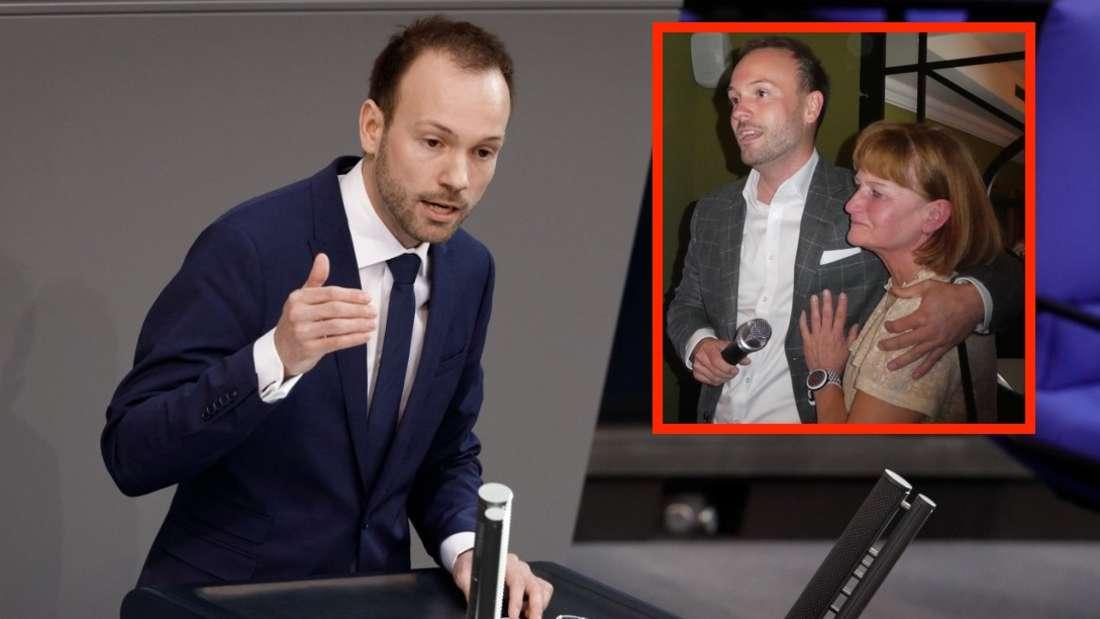 Der Mannheimer CDU-Bundestagsabgeordnete Nikolas Löbel (34) mit seiner Mutter Monika. (Archiv)