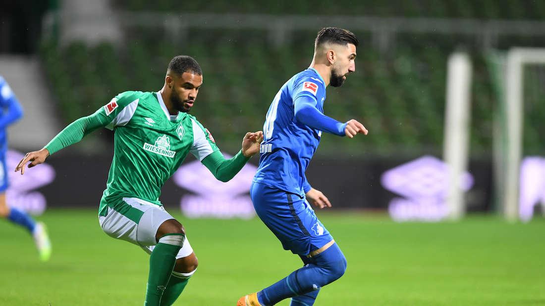 Munas Dabbur (re.) ist mit Hoffenheim am Sonntag gegen Werder Bremen gefordert.