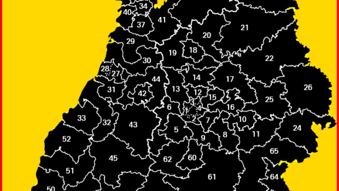 Landtagswahl Baden-Württemberg: In einem Wahlkreis stimmen die Wahlberechtigten über die Besetzung eines oder mehrerer Mandate ab.
