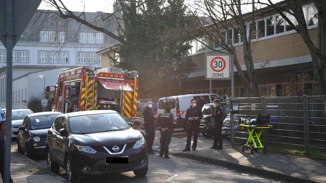 Evakuierung im Mannheimer Kinderhaus Käfertal am Donnerstagmorgen (4. März).