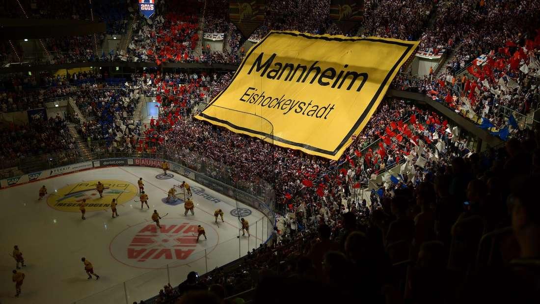 Heute kaum vorstellbar: Eine ausverkaufte SAP Arena bei einem Spiel der Adler Mannheim.