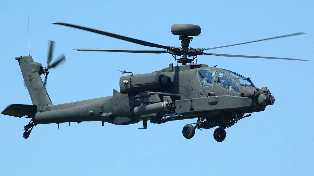 Auch das Hubschrauber-Modell Apache der US-Army fliegt in den kommenden Tagen über der Region.