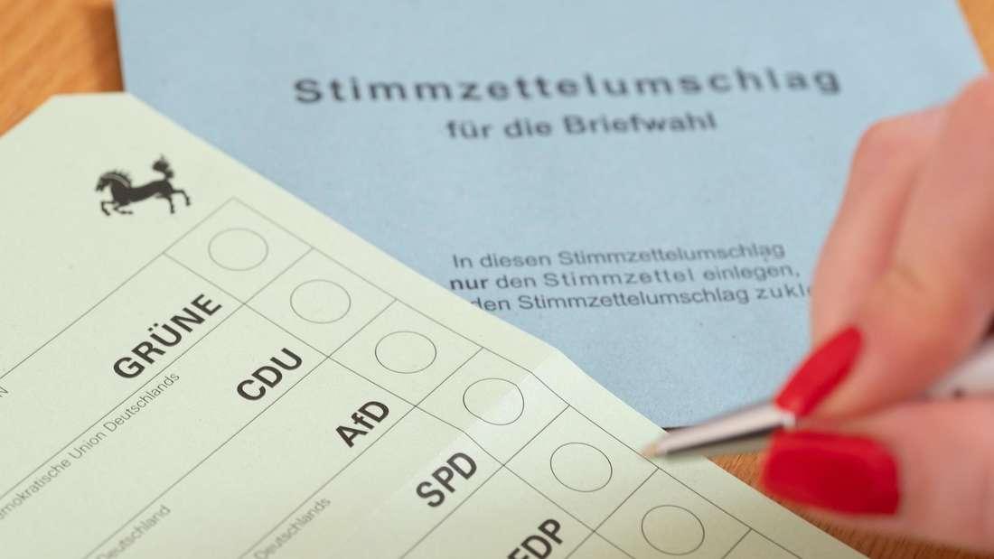 Ein Wahlzettel zur Briefwahl.
