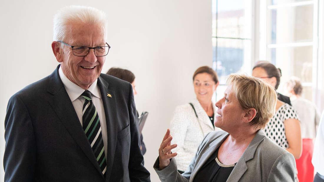 Winfried Kretschmann von den Grünen und die CDU-Politikerin Susanne Kretschmann