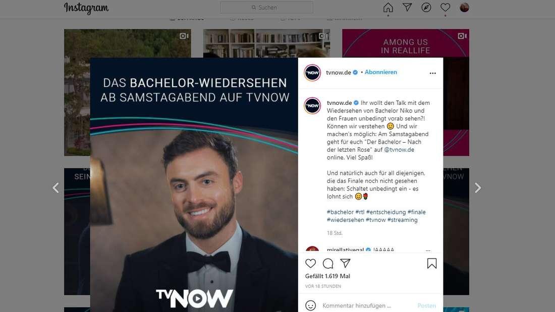 """""""Der Bachelor"""": Das große Wiedersehen soll jetzt doch schon vorab auf TVNOW abrufbar sein."""