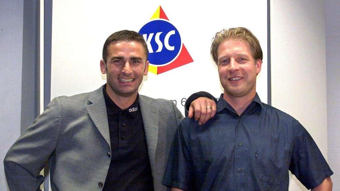 Stefan Kuntz (li.) bei seiner Vorstellung als neuer Trainer des Karlsruher SC.