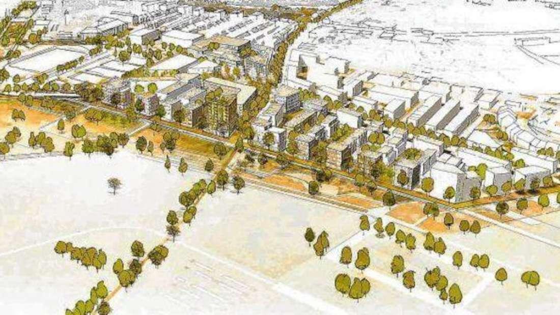 Spinelli Gelände mit seiner geplanten Promenade