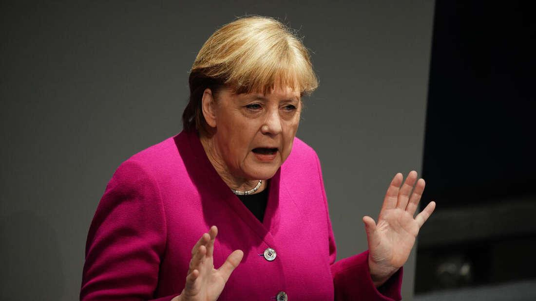 Bundeskanzlerin Angela Merkel (CDU) gibt im Bundestag eine Regierungserklärung zur Corona-Pandemie und zum Europäischen Rat ab.