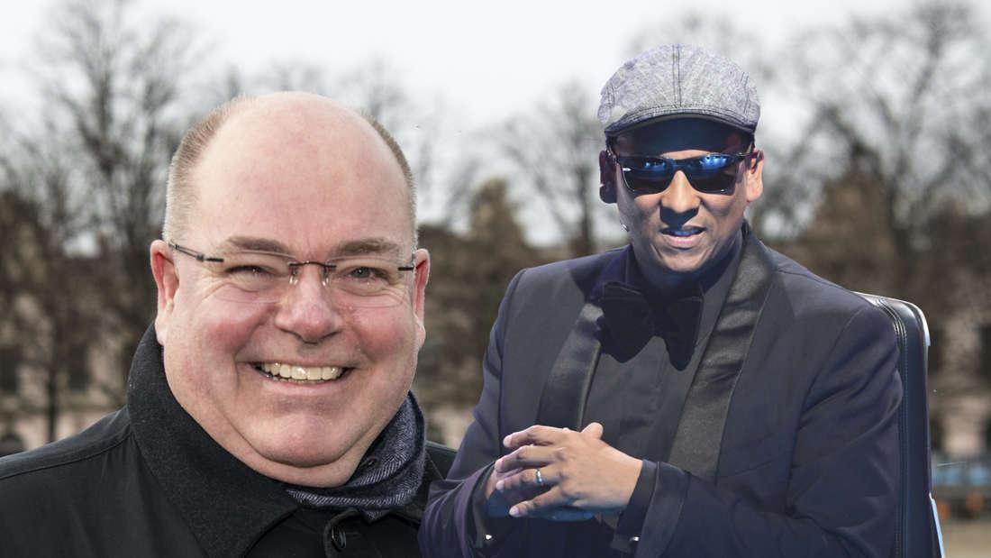 Xavier Naidoo und Walter Kohl (Fotomontage)