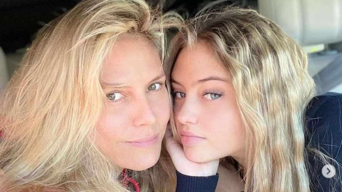 Heidi Klum postet ein gemeinsames Selfie mit ihrer Tochter Leni auf Instagram