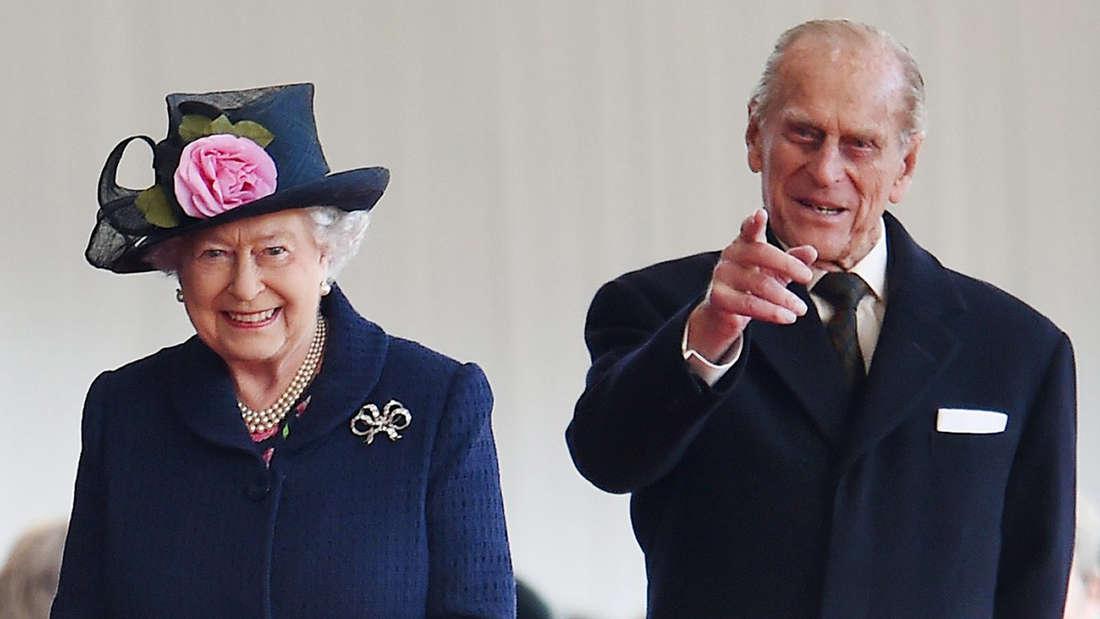 Prinz Philipp mit seiner Ehefrau Queen Elizabeth II.