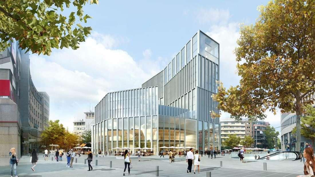 """So soll der """"Metropol""""-Neubau anstelle der Tortenschachtel aussehen."""