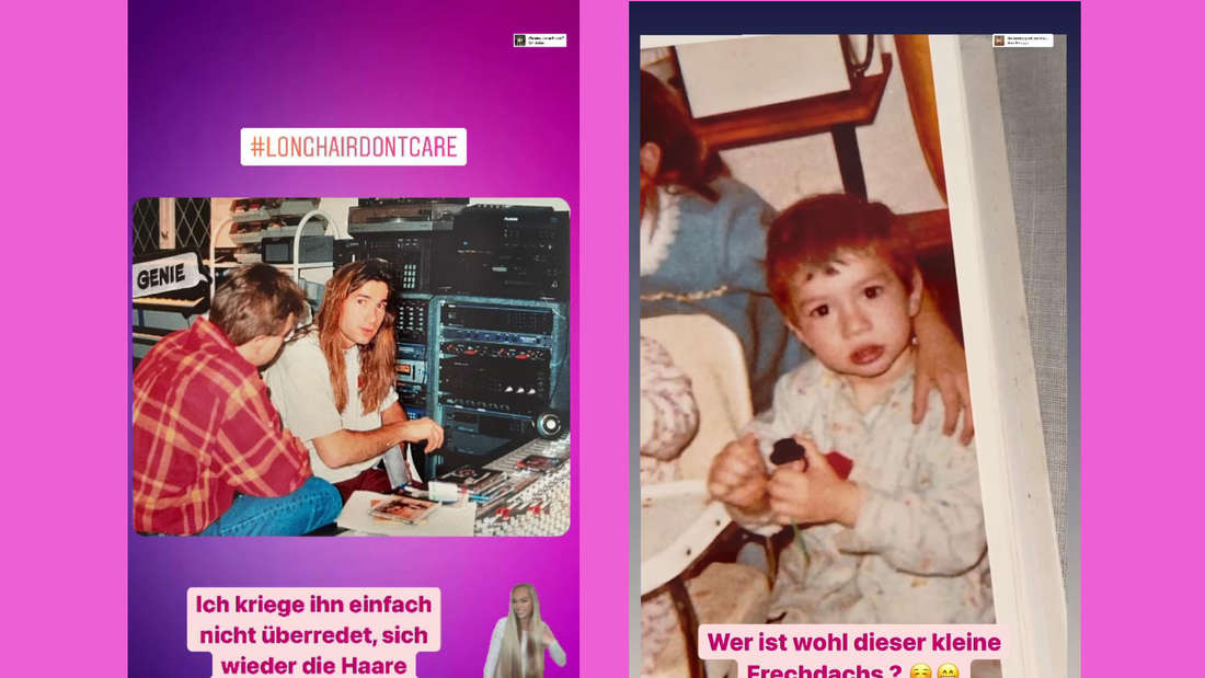 Fotomontage: Screenshots von alten Bildern von Lucas Cordalis