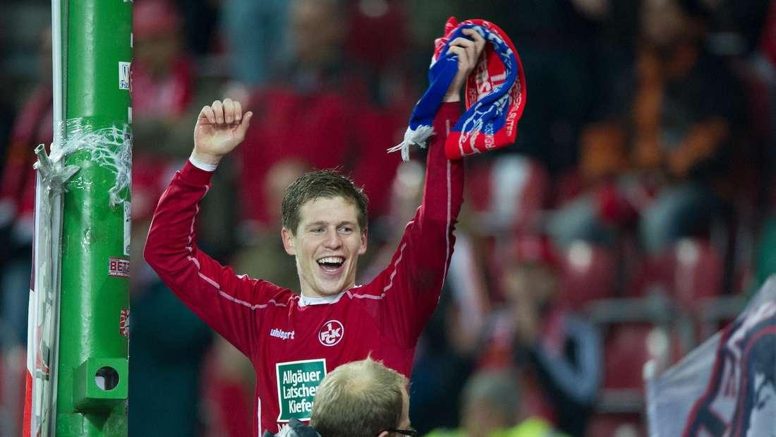 Denis Linsmayer 2012 im Trikot des 1. FC Kaiserslautern.
