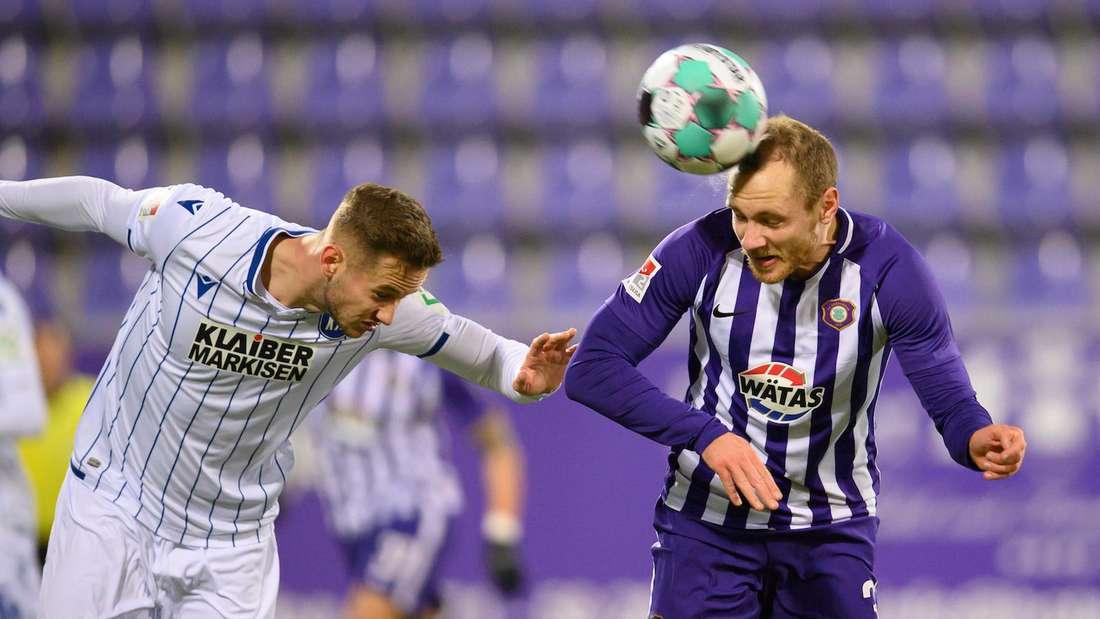 Der Karlsruher SC empfängt Erzgebirge Aue.